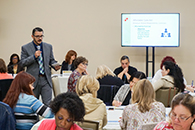 Thumbnail of: Presenter and Attendees in Affordable Care Act Breakout Session