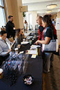 Thumbnail of: Attendees at Registration Table