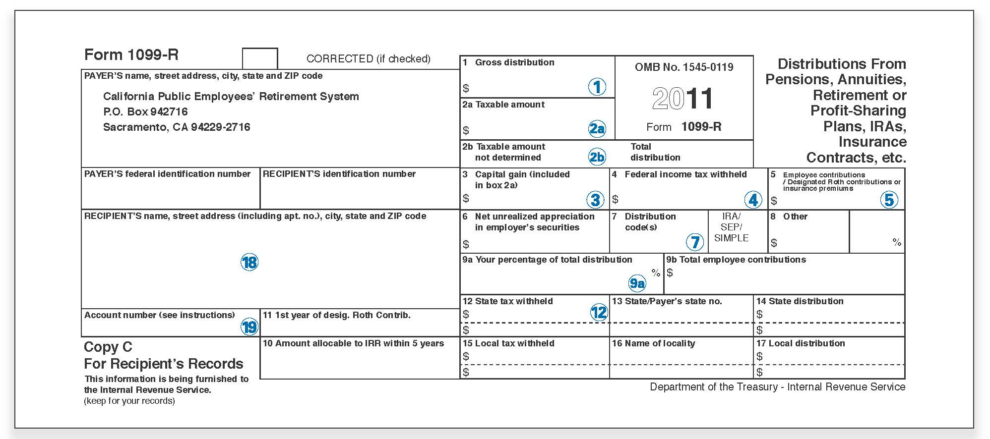 Understanding Your 1099r Tax Form Calpers
